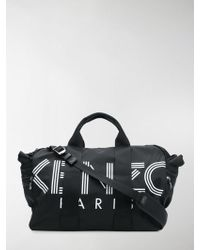 8a7cfeab228b KENZO - Black And White Paris Logo Tote Bag - Lyst