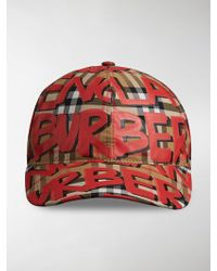 Burberry - Graffiti Vintage Check Cap - Lyst