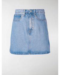 Calvin Klein Jeans - Denim Mini Skirt - Lyst