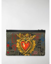 Dolce & Gabbana - Printed Clutch - Lyst