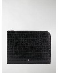 Alexander McQueen Skull Pouch Bag - Black