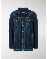 DSquared² - Oversized Denim Jacket - Lyst
