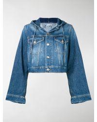 Ganni - Hooded Denim Jacket - Lyst