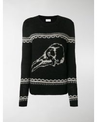 Saint Laurent Skull Knit Jumper - Black