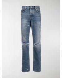 Givenchy - Slim-fit Destroyed Denim Jeans - Lyst