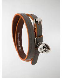 Alexander McQueen - Armband mit Totenkopf - Lyst