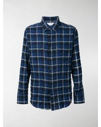 Saint Laurent - Camicia a quadri - Lyst
