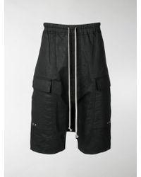 Rick Owens - Shorts cargo al ginocchio - Lyst