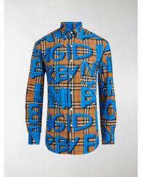 Burberry - Graffiti-print Vintage Check Shirt - Lyst