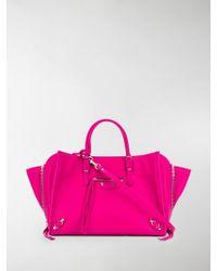 9e3607e6b0d Balenciaga Papier A4 Suede Tote in Pink - Lyst