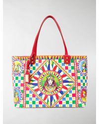 Dolce   Gabbana - Sicilian Carretto Beatrice Tote Bag - Lyst 5cb283b50d