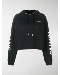 Calvin Klein - Cropped Logo Hoodie - Lyst