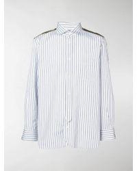 Junya Watanabe - Camouflage Panelled Stripe Shirt - Lyst