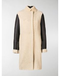 3.1 Phillip Lim - Contrast-sleeve Shearling Coat - Lyst