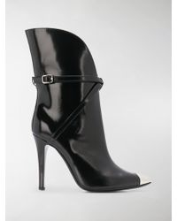 Philosophy Di Lorenzo Serafini - Metal-toe Leather Ankle Boots - Lyst