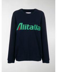 Alberta Ferretti - Felpa con ricamo Alitalia - Lyst