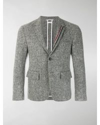 Thom Browne - Engineered Lapel Striped Donegal Wool Classic Sport Coat - Lyst