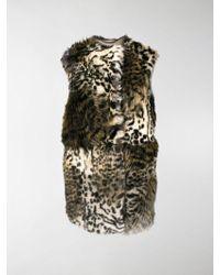 Stella McCartney - Cappotto con pelliccia - Lyst
