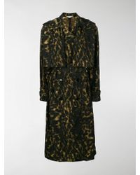 Stella McCartney - Leopard Printed Trench Coat - Lyst
