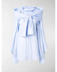Y. Project - Knotted Double Layer Shirt - Lyst