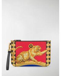 Versace - Cheetah-print Pouch - Lyst