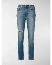 Calvin Klein - Ripped Skinny Jeans - Lyst