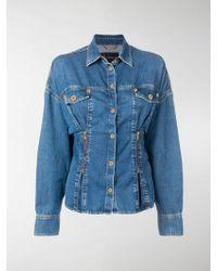 Versace - Jeanshemd mit betonter Taille - Lyst