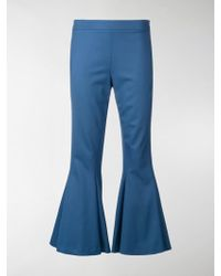 Marco De Vincenzo - Flared Cropped Trousers - Lyst
