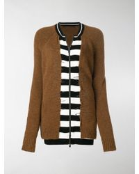 Haider Ackermann - Striped Zip-up Cardigan - Lyst