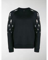 Neil Barrett - Lightning Bolt-print Sweatshirt - Lyst