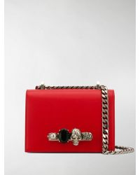 c57805508b4c3 Alexander McQueen Mini Red Heroine Leather Crossbody Bag in Red - Lyst