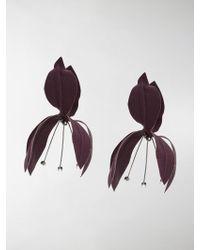 Marni | Oversized Floral Earrings | Lyst