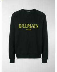 Balmain - Felpa con logo - Lyst