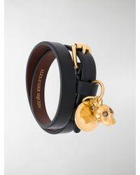 Alexander McQueen - Double-wrap Skull Bracelet - Lyst