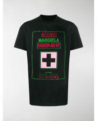 Maison Margiela - T-Shirt mit Logo-Patch - Lyst