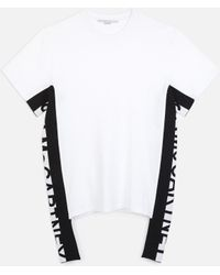 Stella McCartney - Logo Stripe T-shirt - Lyst
