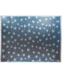 Stella McCartney - Blue Metallic Star Print Scarf - Lyst
