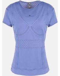 7621ffb6d1351 Women's adidas By Stella McCartney Short-sleeve tops On Sale - Lyst