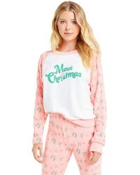 Wildfox - Maui Christmas Fiona Crew | Clean White Neon Sign - Lyst