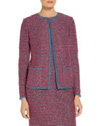 St. John - Exclusive Velvet Luster Knit Jacket - Lyst
