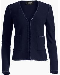 St. John - Ana Boucle Knit V-neck Jacket - Lyst