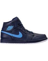 buy popular c0ba0 e9986 Nike - 1 Retro Mid Obsidian University Blue - Lyst