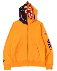 707ded26 A Bathing Ape Tiger Embroidery Full Zip Hoodie Burgundy in Red for Men -  Lyst