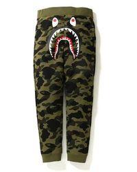 b67ee1a8 A Bathing Ape Shark Slim Sweat Pants Yellow/green in Yellow for Men ...