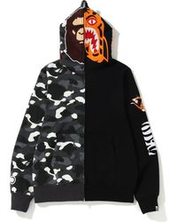 710fae53 A Bathing Ape 1st Camo Shark Hoodie Ma-1 Black in Black for Men - Lyst