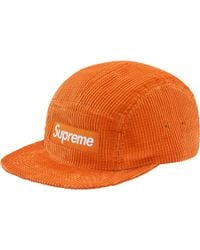 bb53da6a487 Lyst - Supreme Waffle Corduroy Camp Cap Red in Red for Men