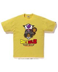 0427e025 A Bathing Ape X Dragon Ball Z Tee 2 Yellow in Yellow for Men - Lyst