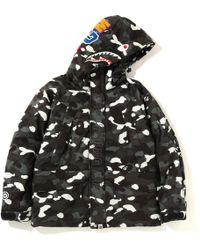 2c5db2d53 Lyst - A Bathing Ape Forest Camo Snowboard Jacket Black in Black for Men