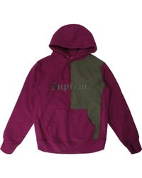 c3b855cccf4b Lyst - Supreme Small Box Zip Up Sweatshirt Plum in Purple for Men