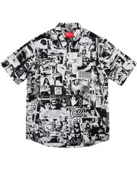 3f847a57bf53 Lyst - Supreme Flowers L s Rayon Shirt White in White for Men